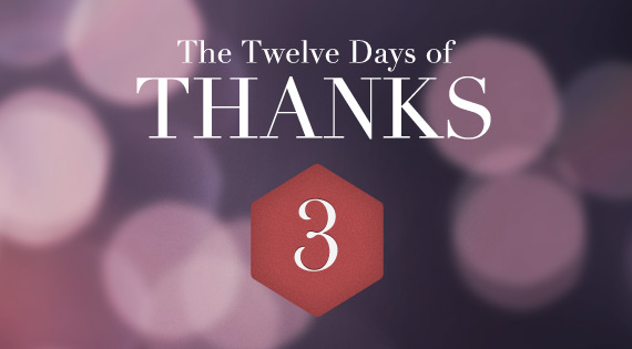 12 Days of THANKS - Day Three