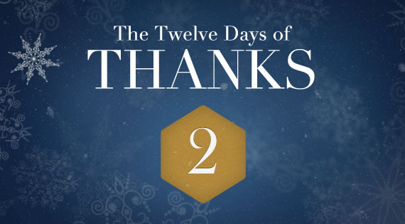 12 Days of THANKS - Day Two