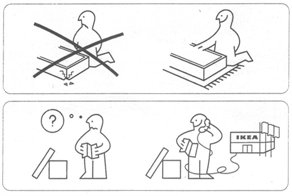 Cartoon Style for IKEA Assembly Instructions