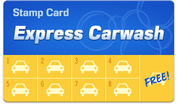 Car Wash Loyalty Card - Version 1