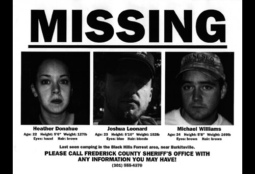 The Blair Witch Project - Missing Flyer