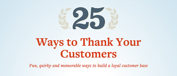25 Ways to Thank Your Customers
