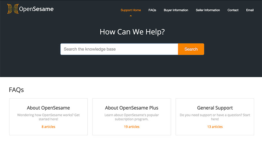 OpenSesame Docs knowledgebase