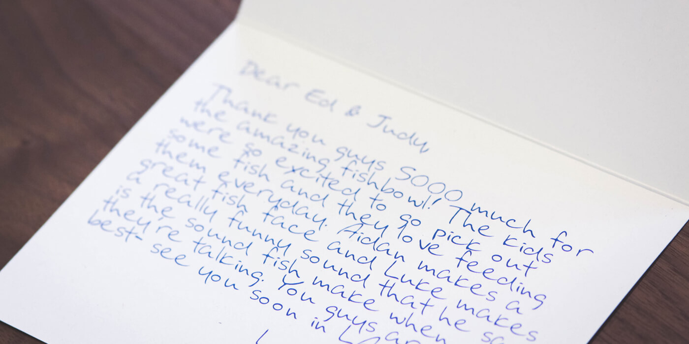 How to Write a Killer Customer Thank-You Note