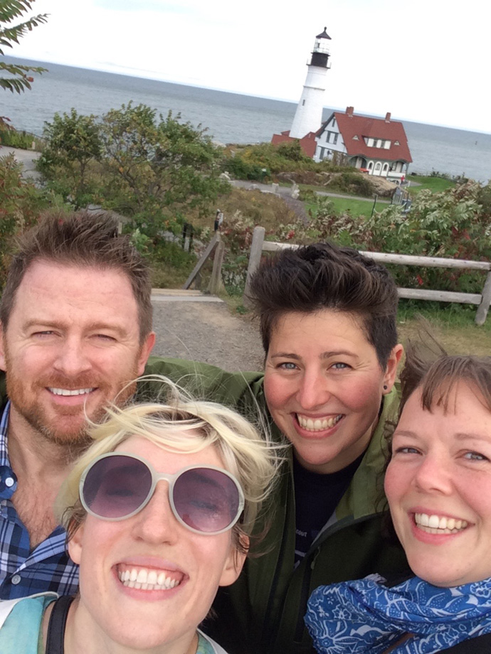 Help Scout team at MPortland Head Light