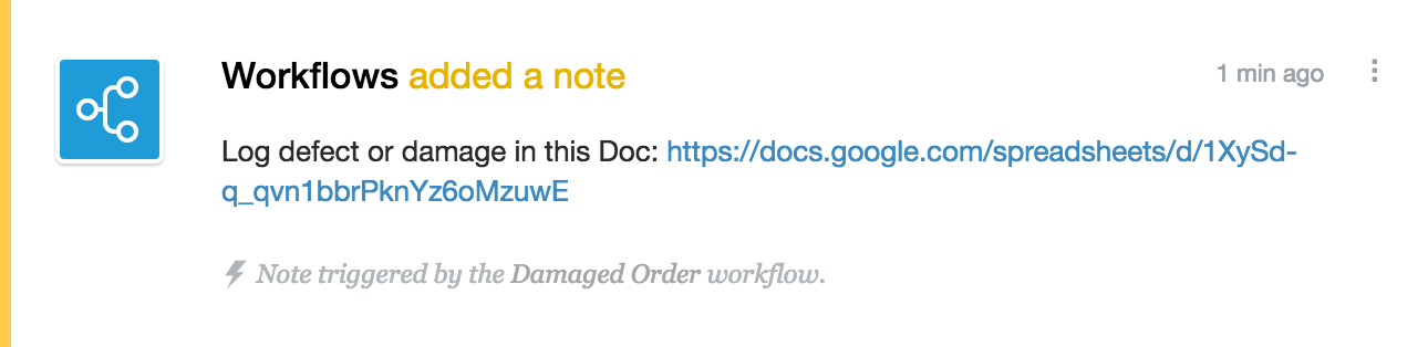 Note from Workflows