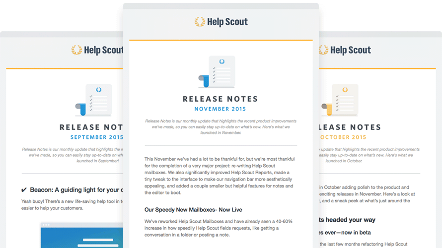 Help Scout: Release Notes