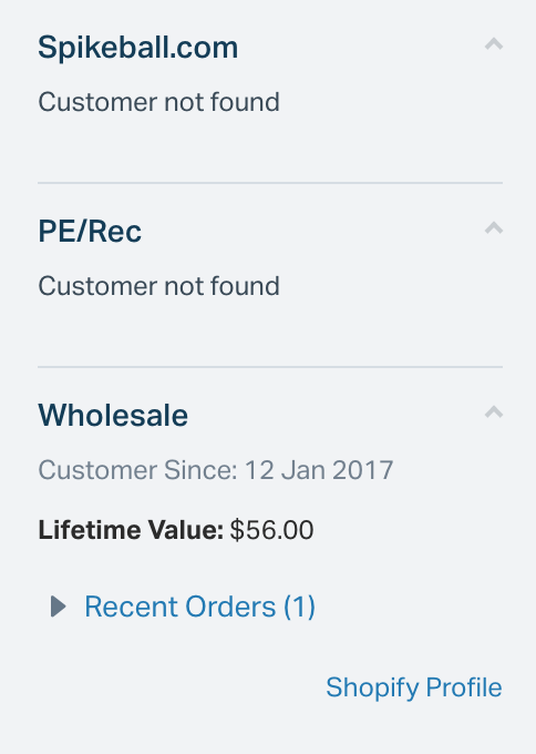 Spikeballs customer's Shopify order