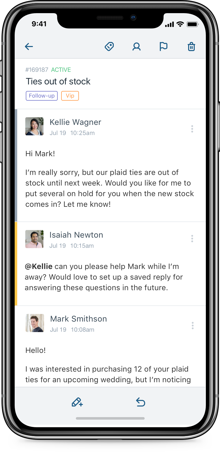 iPhone X - Help Scout Conversations