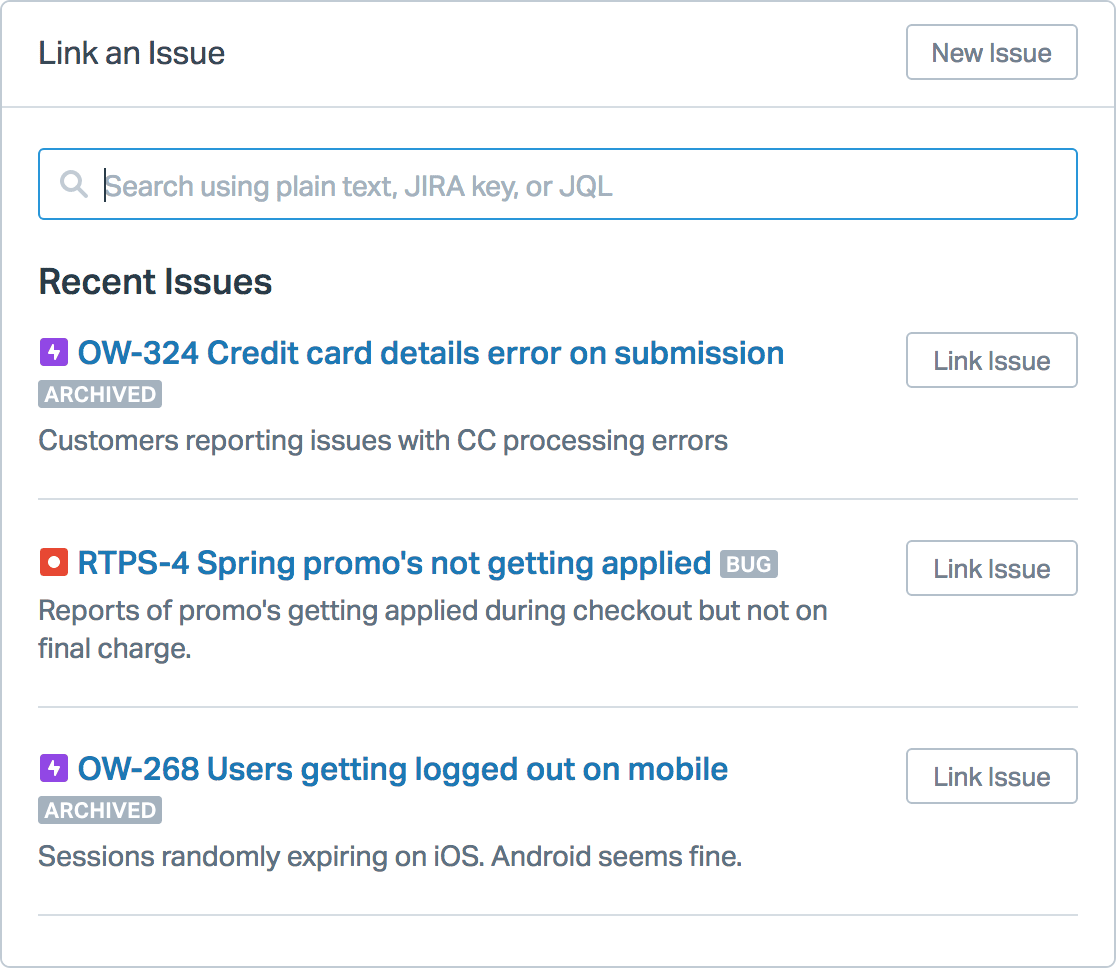 Jira - link an issue from Help Scout
