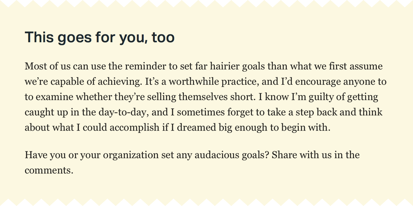 Why You Should Set Big Goals, Even If You Might Not Hit Them