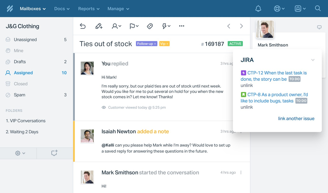 Help Scout Integrations - Jira