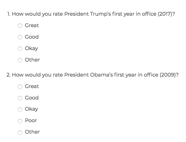 Its Safe To Assume The Goal Of This Survey Was Collect A Different Kind Feedback