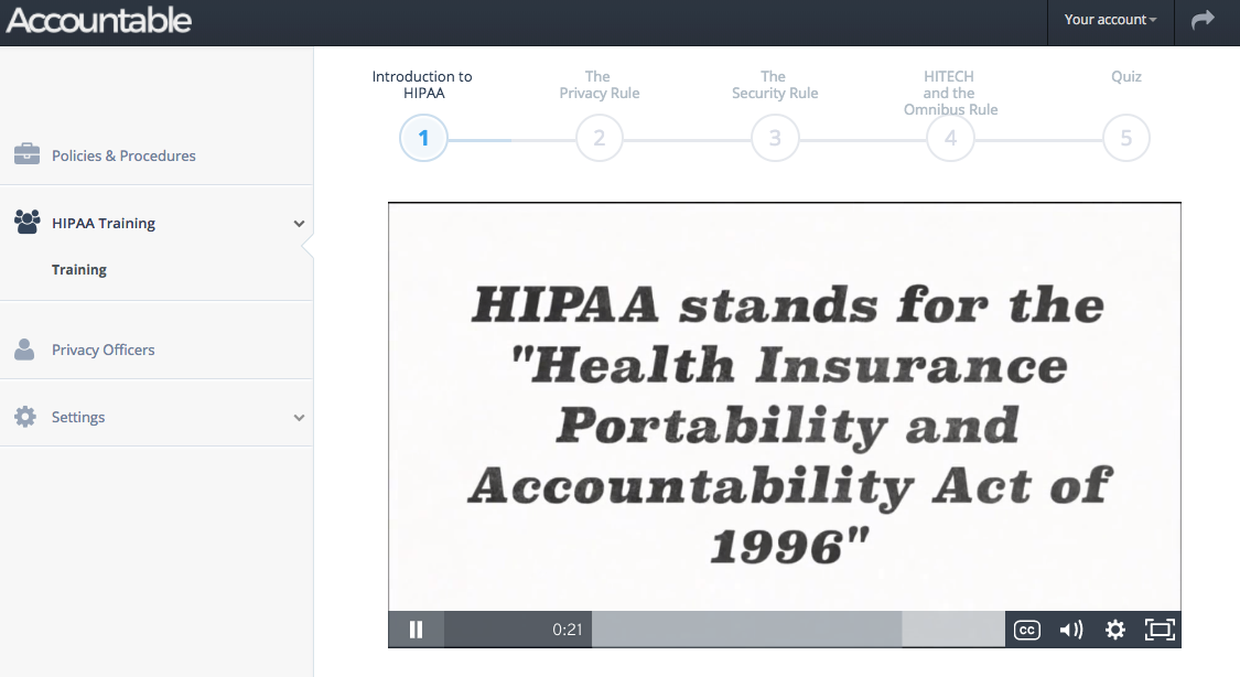 HIPAA training video