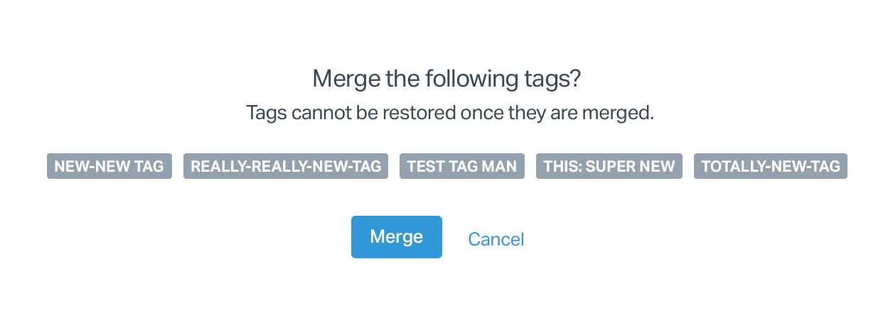 No more accidental tag merging