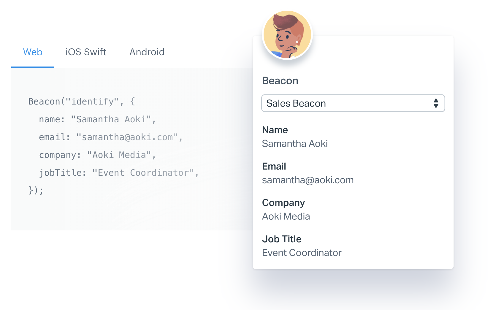 Beacon JavaScript snippet