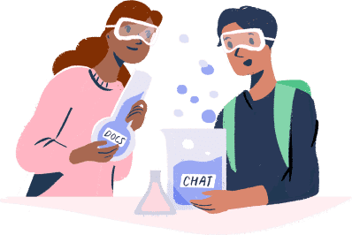 Illustration: scientists in the lab