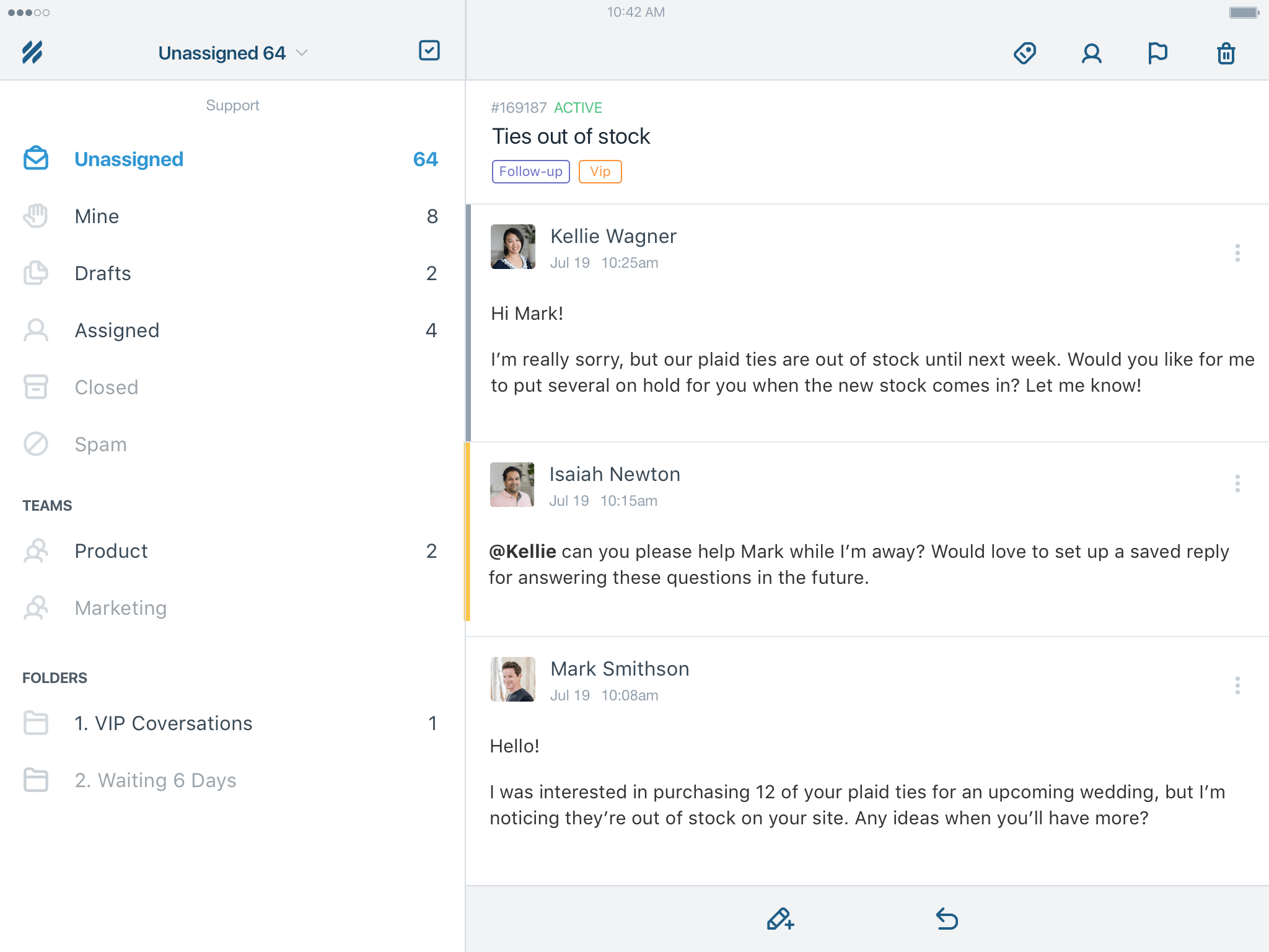 Help Scout for iPad