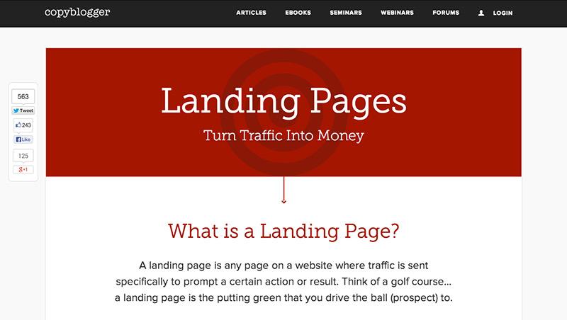 Copyblogger Landing Pages