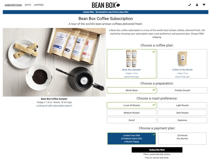 bean-box-Customer-Retention-Example
