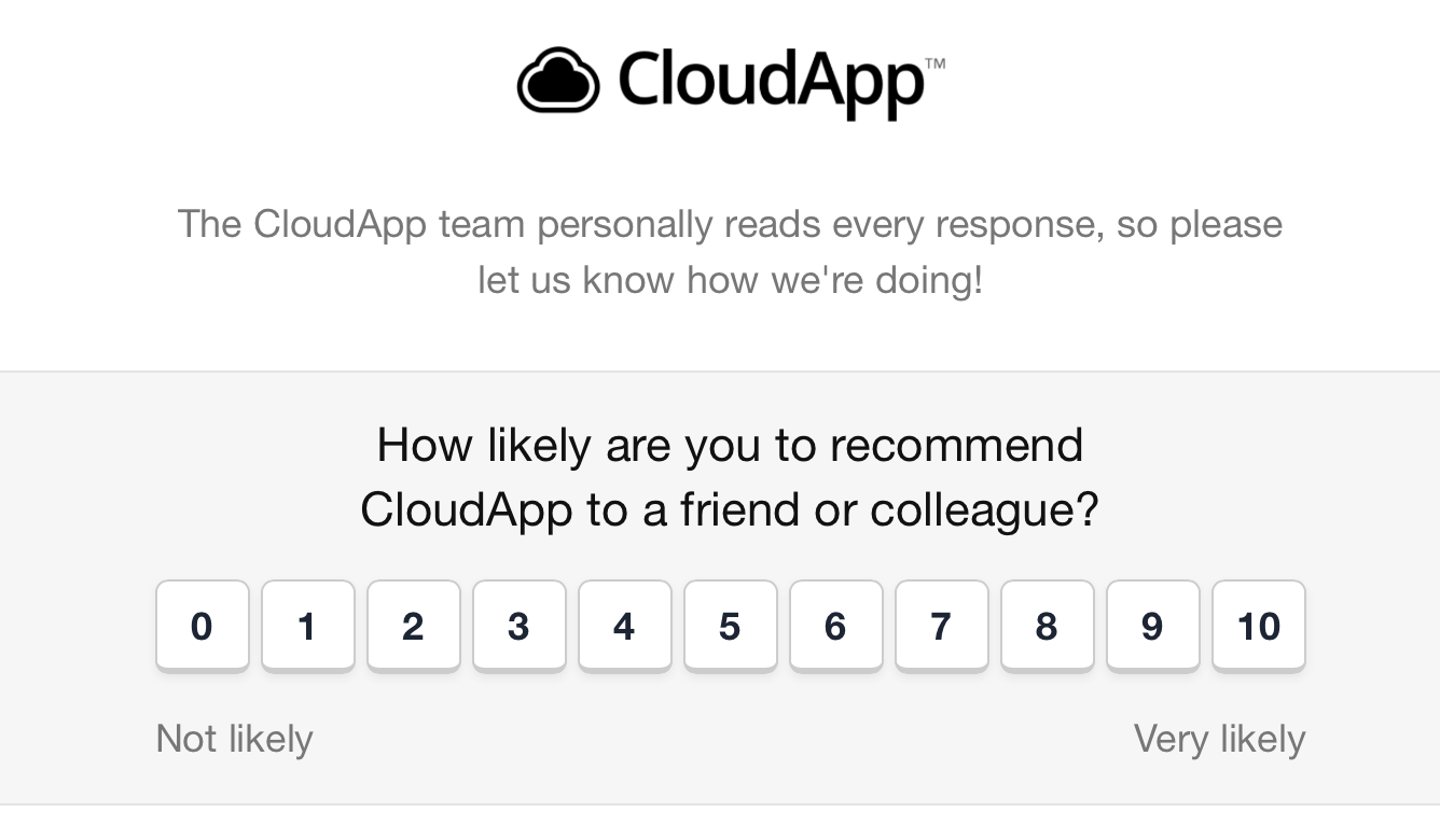 nps survey example